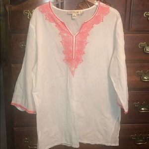 Simply Noelle size XXL white swimsuit cover up